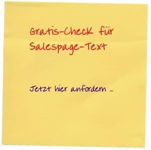 kostenlose Salespage Textanalyse mit 3 individuellen Optimierungstipps